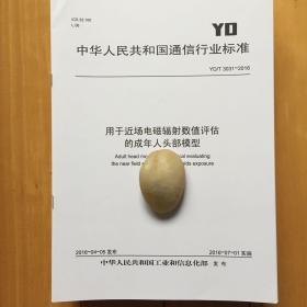 YD/T 3031-2016 用于近场电磁辐射数值评估的成年人头部模型 规范书
