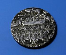 法国 大铜章 19世纪名作 巴约挂毯 直径7厘米 213克