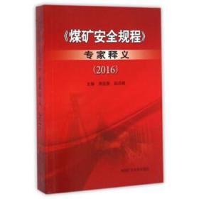 煤矿安全规程 专家释义(2016) 解读新修订版中国矿业大学出版社