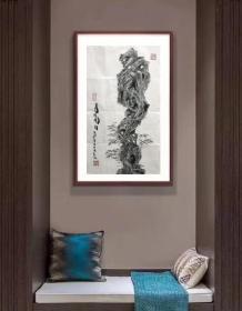 【来自书画家本人,保证真迹】【王平】中国美术家协会会员,中国水墨艺术家奖获得者,山东水墨漫画艺委会副主任,石岛海草房画院院长。中国画2《寿比南山》(58cm×35cm)