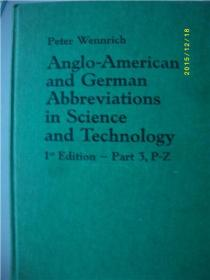ANGIO-AMERICANAND GERMANABBREVIATIONSIN SCIENCEANDTECHNOIOGY
