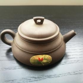 宜兴 紫砂 老 茶壶 没用过 约12cm全长 6cm高 宜兴紫砂工艺二厂