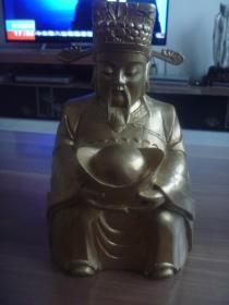 香樟木雕财神爷
