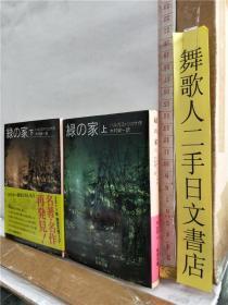 木村荣一 译 绿の家 上下册 バルガス作 日文原版64开岩波文库综合书