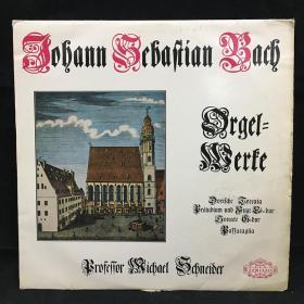 古典音乐黑胶唱片:约翰·塞巴斯蒂安·巴赫(Johann Sebastian Bach)作品。JOHANN SEBASTIAN BACH,Dorische Toccata,B.W.V.538 ,Praludium und Tripelfuge Es-Dur,B.W.V. 552七八十年出版 大33转