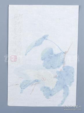 民國 榮寶齋精致荷花箋紙一張HXTX103536