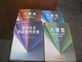 硬道理.专家书系:大潮流-经济全球化与中国面临的挑战、大重组-中国所有制结构重组的六大问题、国有经济的战略性改组、大调整-中国经济结构调整的六大问题  【4本合售】货号13-8