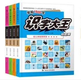 3-6岁识字大王幼儿学前常用字学前1500字(全4册)