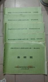 西藏罗布林卡三期重点维修工程实测图(湖心宫、新宫区、外观马区、原嘎夏政府办公区、金色颇章区 )和外围区设计图 5本打包合售