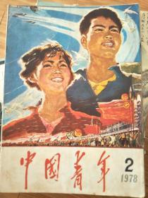 《中国青年》(197802)封面宣传画精美!