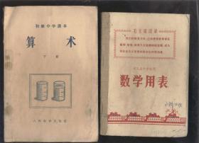 數學用表——河北省中學試用(1971年1版2印)2019.6.12日上