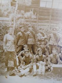 民国初年日本士官生大幅合影照片