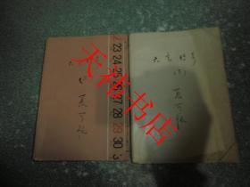 老武侠小说 大宝传奇(上、下)(2本合售)(书籍包有保护纸,书侧面有字迹)