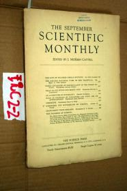 SCIENTIFIC MONTHLY 科学月刊1937年9月 多图片