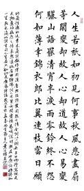 【保真】中国硬笔书法协会会员、著名书法家叶方辉精品力作:纳兰性德《木兰词》