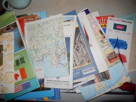 外国地图 旅游图 导览图 21张 美国、加拿大、plano de valencia\Rapallo\france\toronto\马六甲市区地图、香港、Detroit   、osaka\ roma\paris\madrid 等