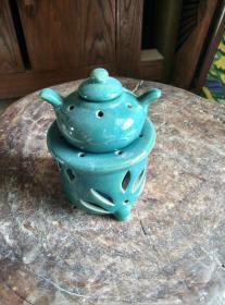 八十年代出的蓝釉瓷酒精炉