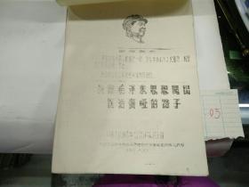 依靠毛泽东思想闯出医治聋哑的路子(油印)(16开本)