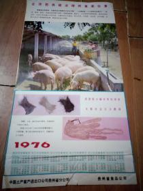 1976年年历画 中国土产畜产进口公司贵州省分公司