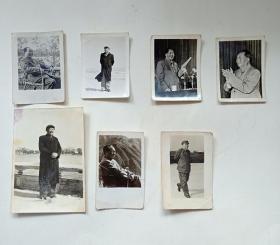 文革毛主席黑白照片(7张合售)