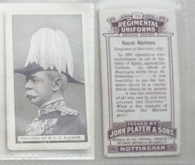 早期外国烟卡-军队制服1枚