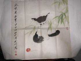 李锐钧绘画作品《冷眼看世界-猫》