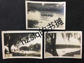 【系列照片】民国武汉民俗风情照片3张合售,春江水暖+勤劳+渔光曲等。影像清晰、品质颇佳