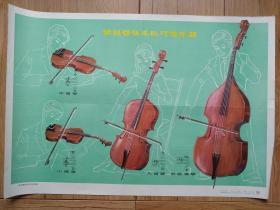 常见管弦乐队弓弦乐器(音乐教学挂图(一)12(10))