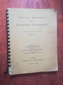 【2640 American Associcdfion of Sfrdfigrahic Palynoiogisfs75年外文原版