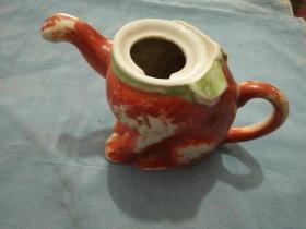 猫形茶壶缺盖