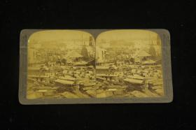 清末、民国立体照片《珠江上的船只》