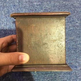 【铁牍精舍】【文房雅玩】民国老上海活动木烟盒,可用,10x10x10cm