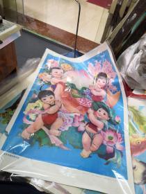 连年丰收四季平安 (2开年画)江西人民出版社 品以图为准