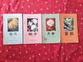 月季 茉莉 栀子 菊花 四书合售