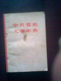 中国共产党大事年表