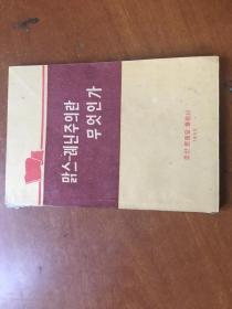 什么是马克思列宁主义  朝鲜文  1963年