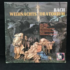 古典音乐黑胶唱片:一盒三张全《巴赫作品》 Bach: Weihnachts-Oratorium : Weihnachts Oratorio BWV 248 七八十年出版 带解说 大33转  品好