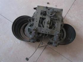 百年老钟表座钟挂钟配件表盘振簧机芯铜齿轮包老怀旧民俗收藏品