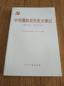 中共濮阳市历史大事记(1983年9月——2012年12月)