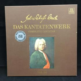 古典音乐黑胶唱片:一盒两张全《巴赫作品 带一册乐谱》 Bach: Das Kantatenwerk,Folge 24,In allen meinen Taten,BWV 97 七八十年出版 大33转  品好