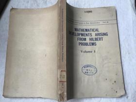Mathematical developments arising from Hilbert Problems 希尔伯特问题所引起的数学发展 第1册(英文,FELIX E. BROWDER著)