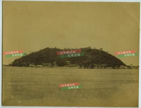 清代长江扬子江沿岸江苏镇江焦山蛋白老照片,一张,尺寸为26.5X20.5厘米左右,大约1880年代洗印,130年左右的历史