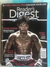 美国原版杂志Readers Digest读者文摘2008 曼尼·帕奎奥(Manny Pacquiao)封面专访,等