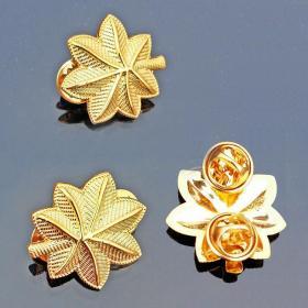极品顶级美国少校军衔金色徽章不掉色可佩带西服上质量上乘堪比原品值得佩戴和收藏(金色一对)