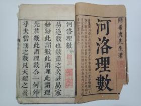 孔网独售 ---风水地理书 --前有皇明崇祯陈仁锡序-- 白纸木刻本《河洛理数》7卷 ---16开4册---- 内容好 珍贵古籍资料 请慎重下单