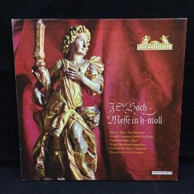 古典音乐黑胶唱片:一盒三张全《巴赫作品》 Bach: Messe in h-moll BWV 232 七八十年出版 大33转  品好