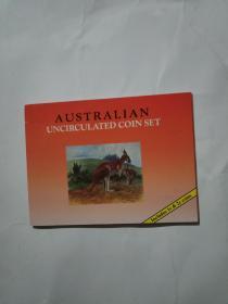 澳大利亚硬币伊丽莎白二世花冠版硬币8枚装帧册(包邮快递)