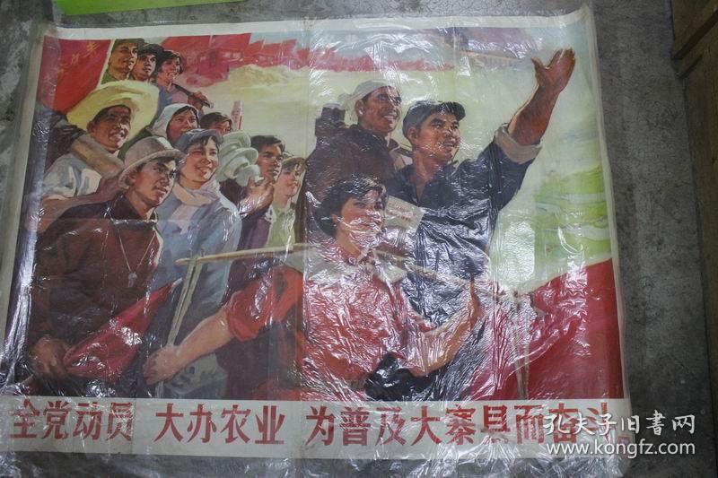 全党动员,大办农业。为普及大寨县而奋斗