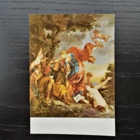 明信片 民主 德国 东德  油画 Anton Van Dyck