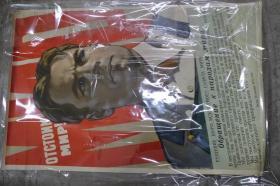 苏联宣传画--我们会站在世界前列ОТСТОИМ МИР